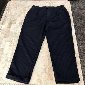 Chaps pinstripe linen cuffed slacks 36 waist